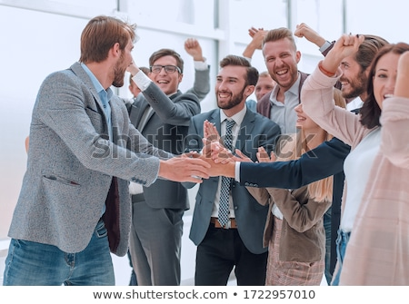 Stock fotó: Casual Man In Welcoming Gesture