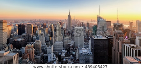 New York Skyline with Statue of Liberty Color Stock photo © davidgn