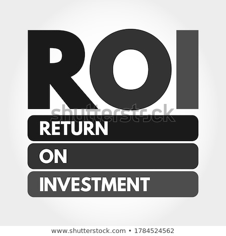 Roi acrônimo voltar investimento escrito giz Foto stock © bbbar