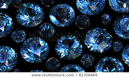 Stock photo: Round swiss blue topaz