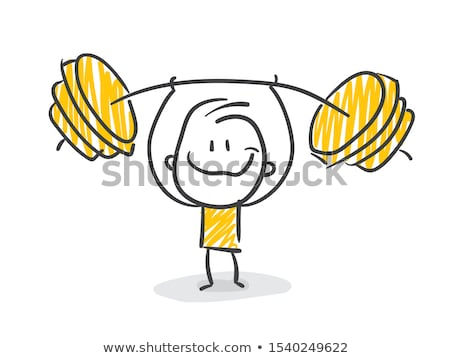 Stock photo: Man lifting a dumbbell