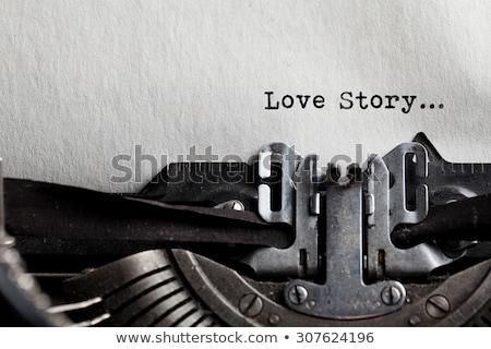 Foto stock: Vintage · amor · velho · máquina · de · escrever · teclado