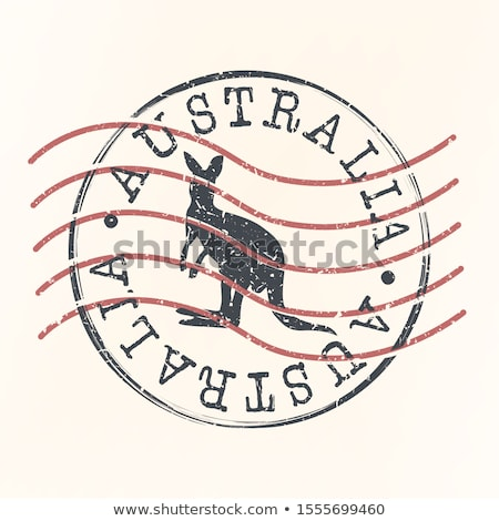 Stock photo: Austaralian  post stamp