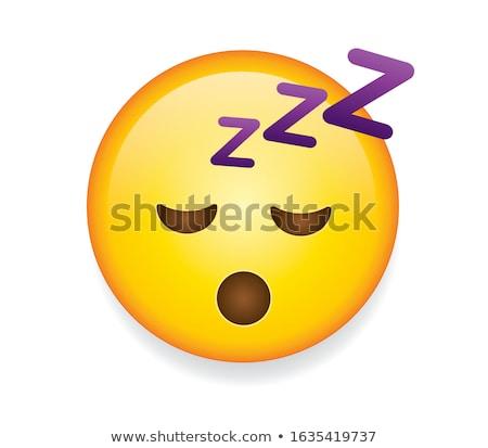 sleeping face stock photo © prill
