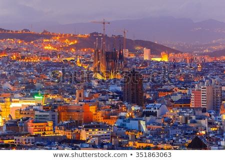 Familia nacht Barcelona kathedraal details Stockfoto © johny007pan