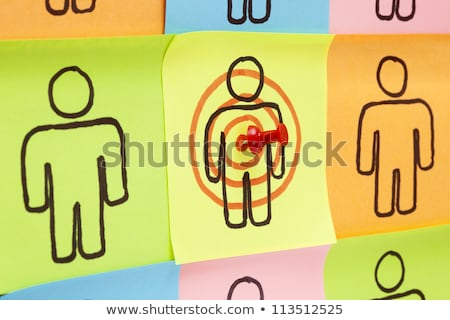 Target Your Customers Sticky Notes stock photo © ivelin
