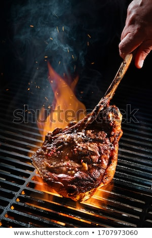 Grelhado bife madeira sangue bife churrasco Foto stock © M-studio