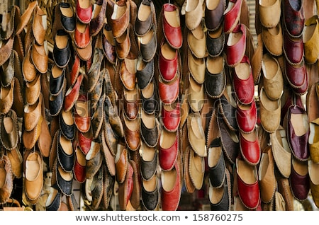 traditional slippers in souk of cairo egypt Stock photo © travelphotography