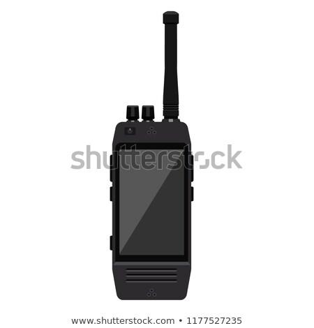Portátil radio escáner blanco tecnología seguridad Foto stock © compuinfoto