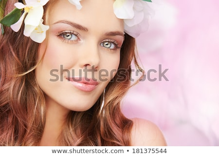 young lady with perfect visage stock photo © anna_om
