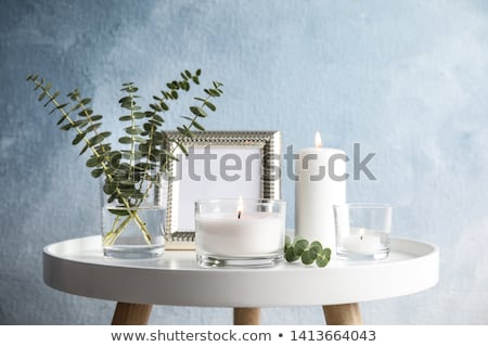 Illatos gyertyák izolált fehér gyertya ázsiai Stock fotó © kitch
