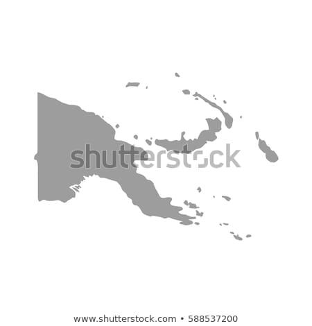 Папуа-Новая Гвинея карта большой размер черный флаг Сток-фото © tony4urban