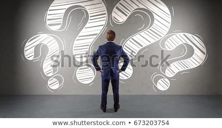 Curious Business Man Stock photo © sdecoret