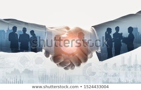 kézfogás · üzletemberek · kettő · kézfogás · nő · igazgató - stock fotó © lightsource
