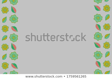 retro background with green rhombus and text space Stock photo © marinini