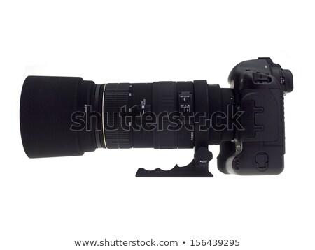 Fotocamera teleobiettivo zoom lenti dslr isolato Foto d'archivio © Mikko