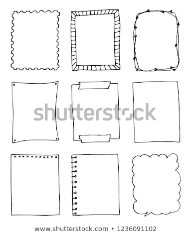 Doodle cadre dessinés à la main cercle design silhouette Photo stock © zsooofija