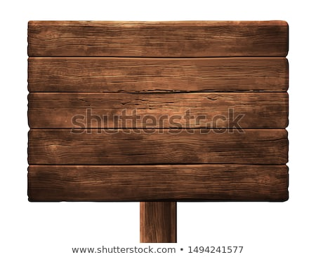 Blank Wooden Sign (illustration) Stock photo © UPimages