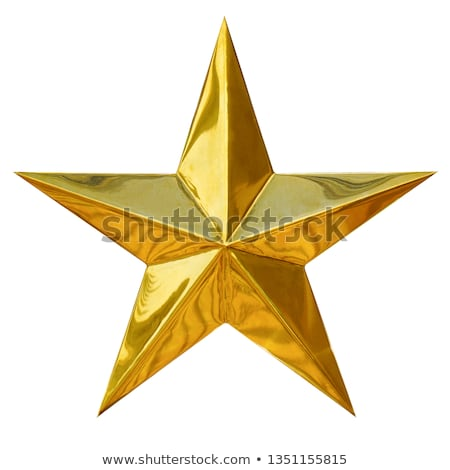 Gold star isolated on white Stock photo © Lightsource