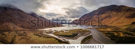 Manzara İskoçya panoramik gökyüzü çim yaz Stok fotoğraf © ollietaylorphotograp