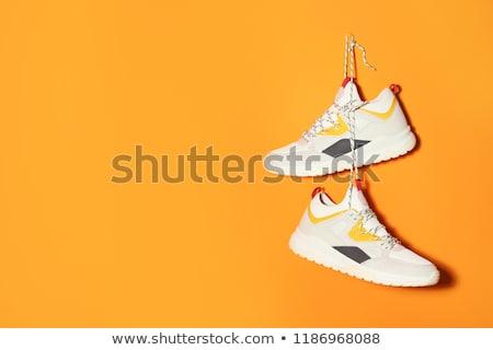 Pár divatos sportcipők izolált fehér sport Stock fotó © RuslanOmega