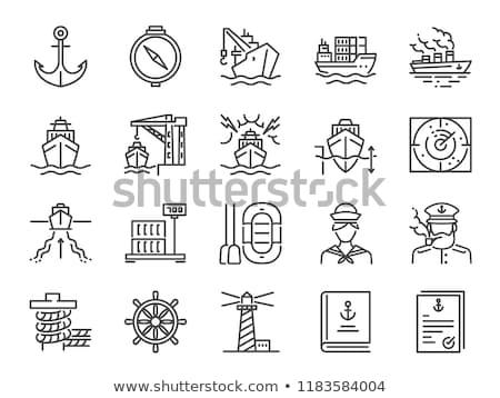 Cargo Ship Direction Set Stock photo © cteconsulting