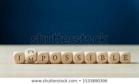 Lehetséges üzenet kéz írott zöld tábla Stock fotó © stevanovicigor
