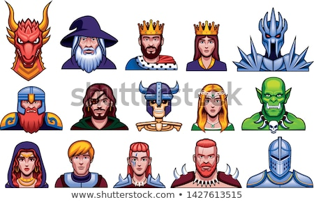 Avatar fantasy icons Stock photo © carbouval