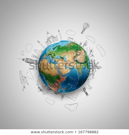 World travel pencil  Stock photo © cienpies