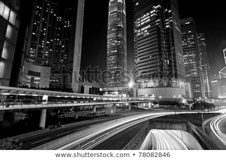 Photo stock: Trafic · modernes · ville · blanc · noir · voiture · bâtiment