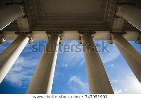 Kormány épület iskola művészet zászló idő Stock fotó © zzve