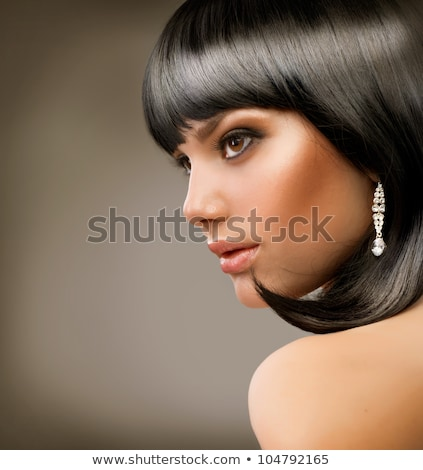 brunette woman with jewellery, toned Stock photo © chesterf