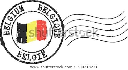 Posta bélyeg Belgium nyomtatott oroszlán művészet Stock fotó © Taigi