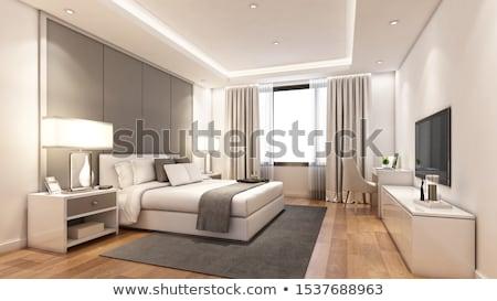 Interior moderno quarto de hotel projeto casa quarto Foto stock © leungchopan