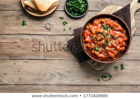 casserole with legume, vegetables and meat Stock photo © M-studio