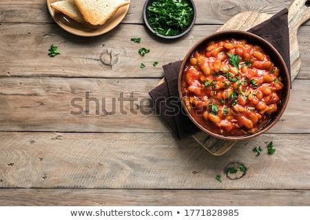 Groenten vlees voedsel hout achtergrond maaltijd Stockfoto © M-studio