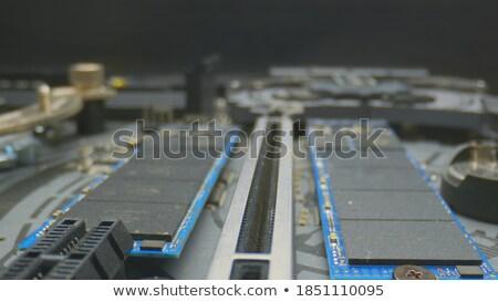 Anakart bilgisayar teknoloji Metal web işçi Stok fotoğraf © Nneirda