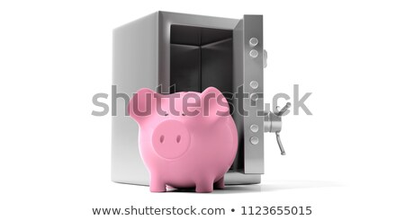 Piggy bank locking - unlocking Stock photo © icefront