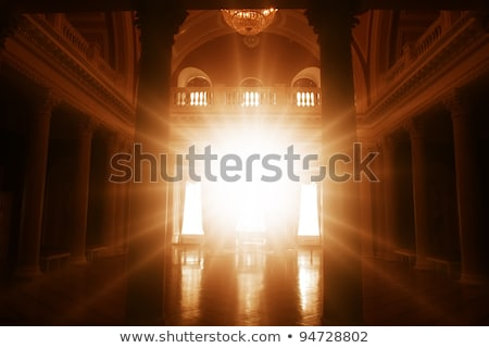 Stock photo: Bright room in the ancient palace