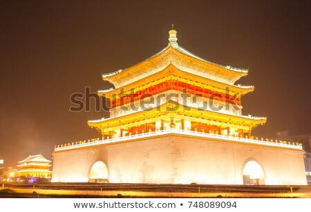 dzwon · wieża · starożytnych · miasta · Chiny · niebo - zdjęcia stock © bbbar