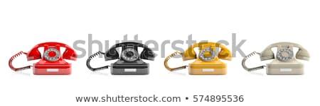kéz · fehér · telefonkagyló · kábel · izolált · hálózat - stock fotó © bigknell