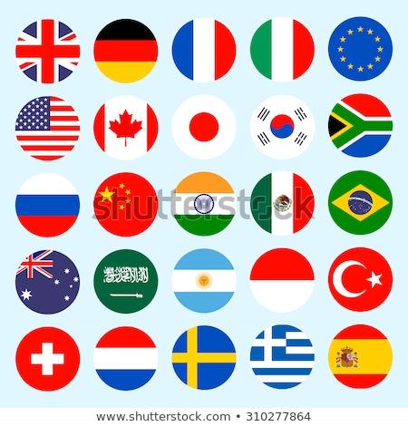 flag icon web button france Stock photo © mizar_21984