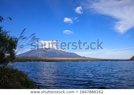 озеро · Япония · Панорама · горные · fuji · небе - Сток-фото © vichie81