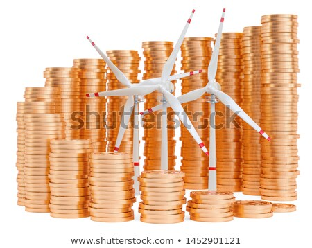 energy efficiency chart with wind turbine illustration Stock photo © alexmillos