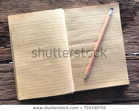 étude · temps · livres · crayon · école · écrit - photo stock © reicaden