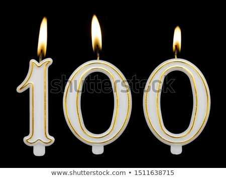 Stock photo: Burning birthday candles number 100