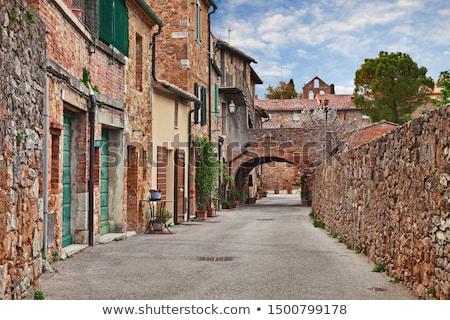 狭い · 通り · 古い · 村 · 道路 · 建物 - ストックフォト © w20er