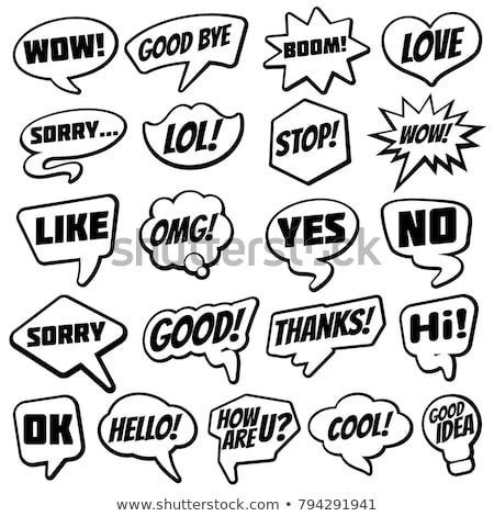 Sorry Speech Bubble Concept Stock photo © ivelin