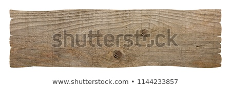 Isolato bianco cartello stradale legno informazioni Foto d'archivio © scenery1