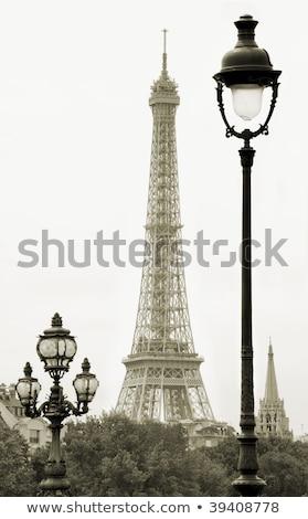 vintage street lantern in paris france stock photo © ifeelstock